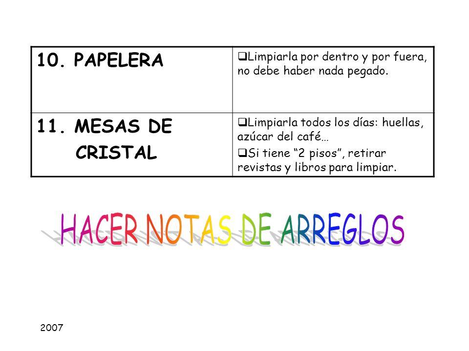 HACER NOTAS DE ARREGLOS