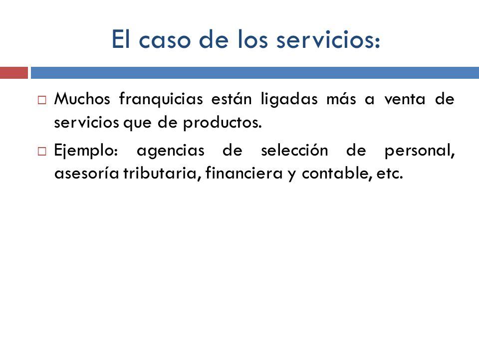 El caso de los servicios: