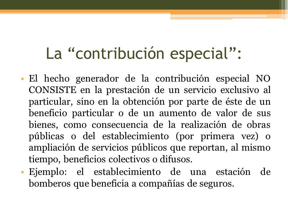 La contribución especial :