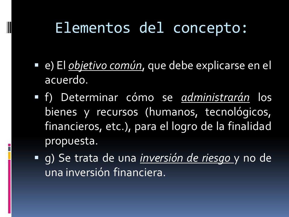 Elementos del concepto: