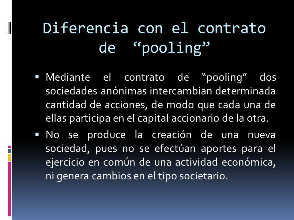 Diferencia con el contrato de pooling