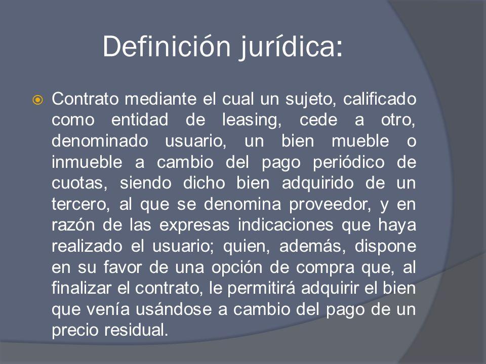 Definición jurídica: