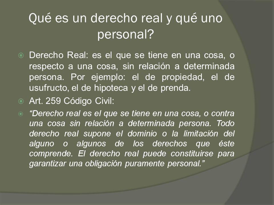 Qué es un derecho real y qué uno personal