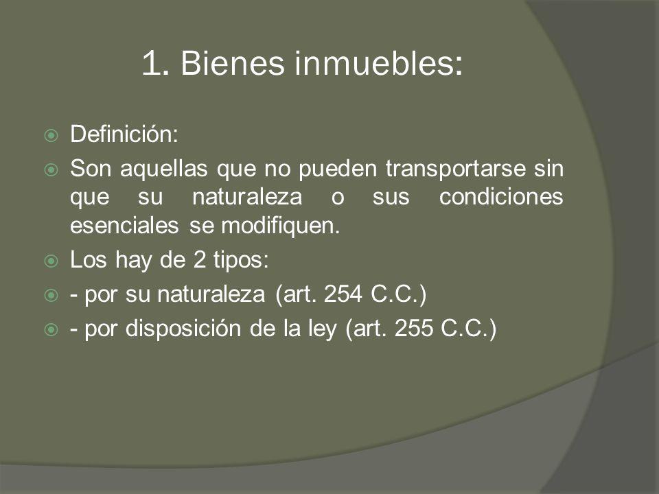 1. Bienes inmuebles: Definición: