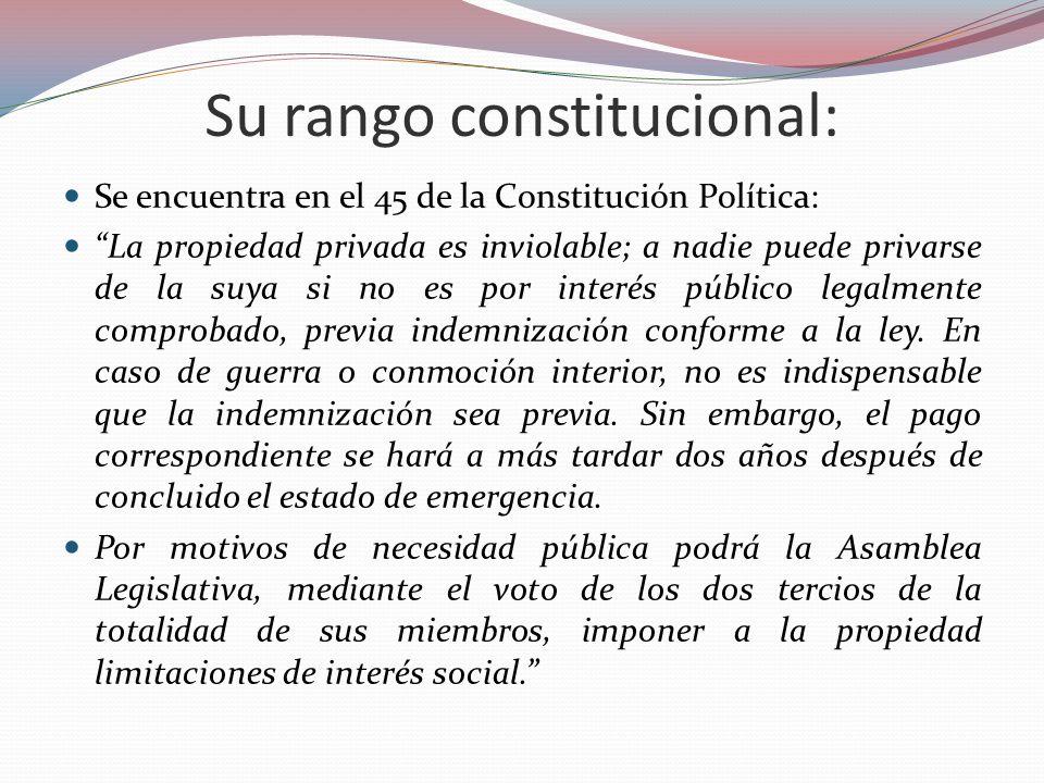 Su rango constitucional: