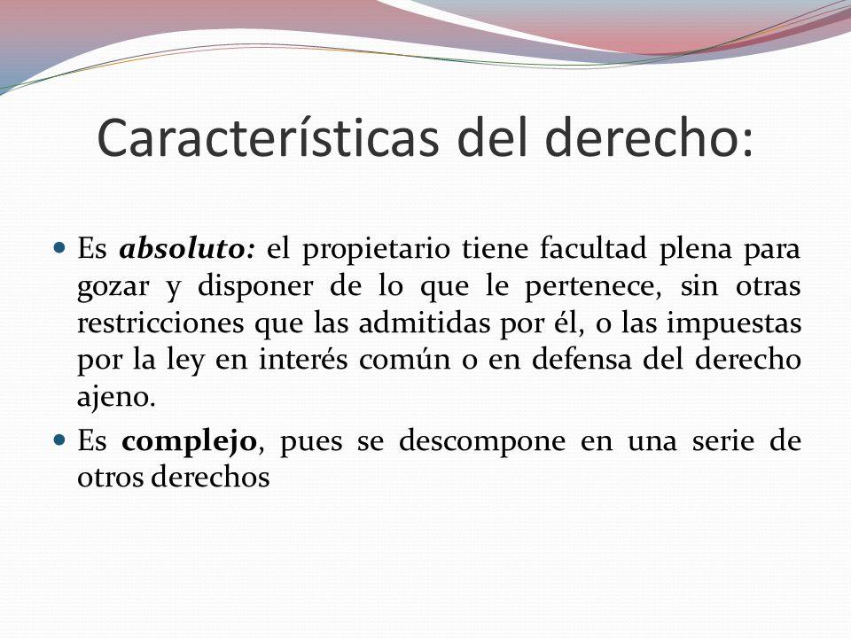 Características del derecho:
