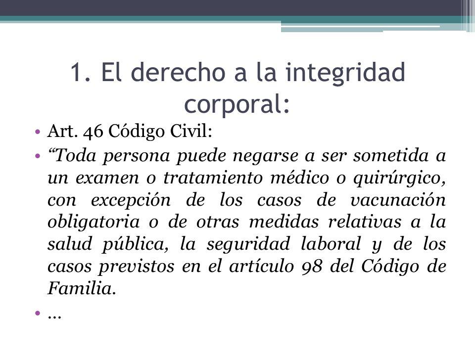 1. El derecho a la integridad corporal:
