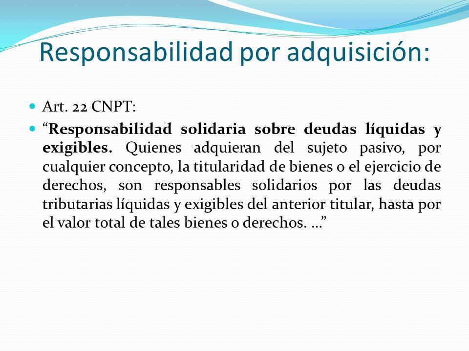 Responsabilidad por adquisición:
