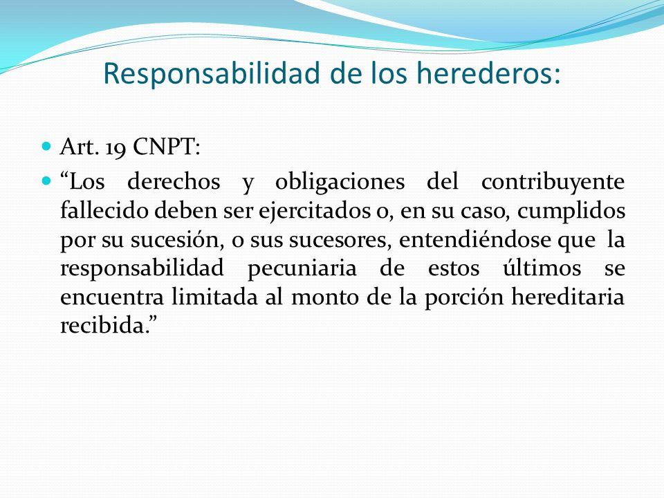 Responsabilidad de los herederos: