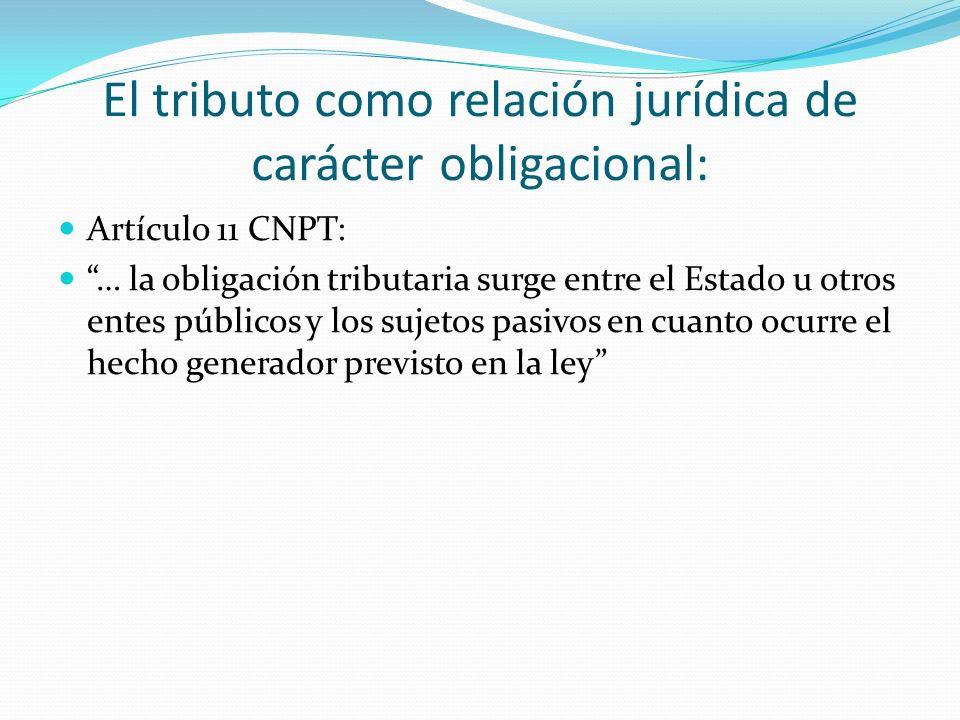 El tributo como relación jurídica de carácter obligacional: