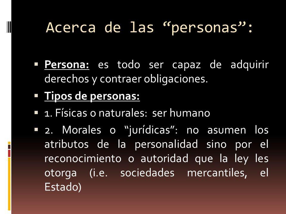 Acerca de las personas :