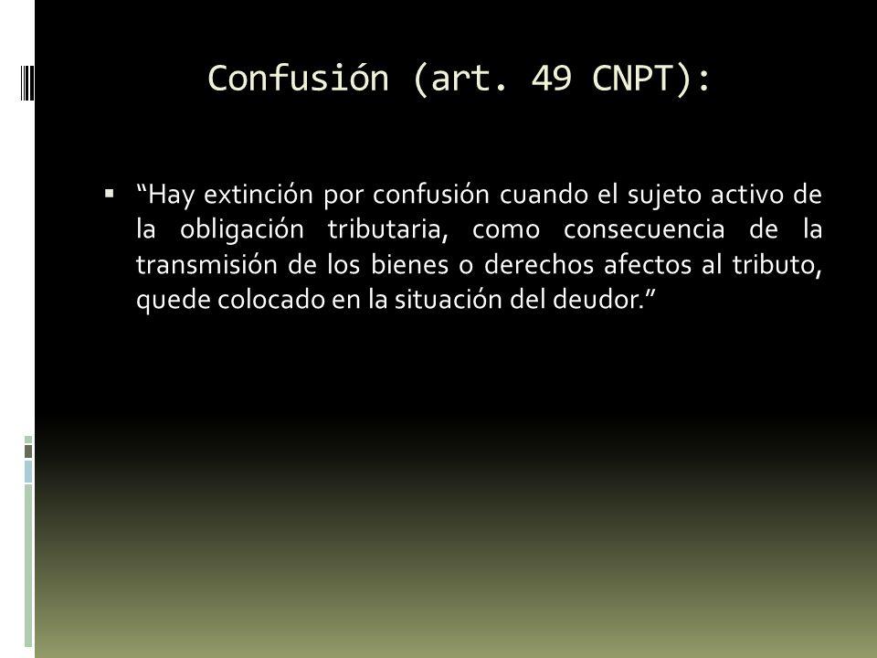 Confusión (art. 49 CNPT):
