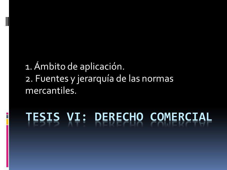 TESIS VI: DERECHO COMERCIAL