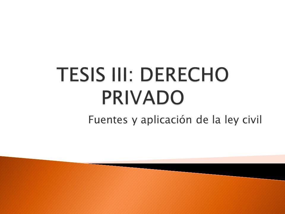 TESIS III: DERECHO PRIVADO