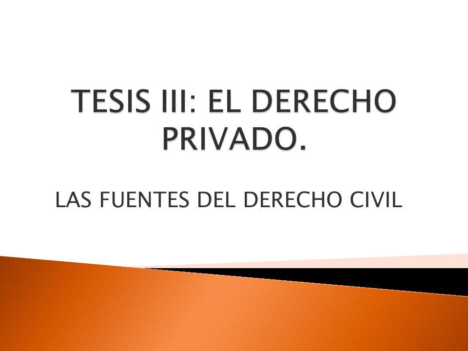 TESIS III: EL DERECHO PRIVADO.