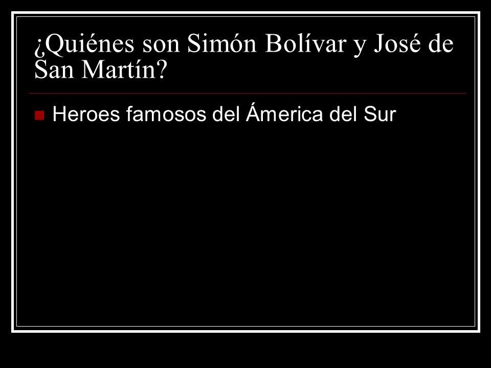 ¿Quiénes son Simón Bolívar y José de San Martín