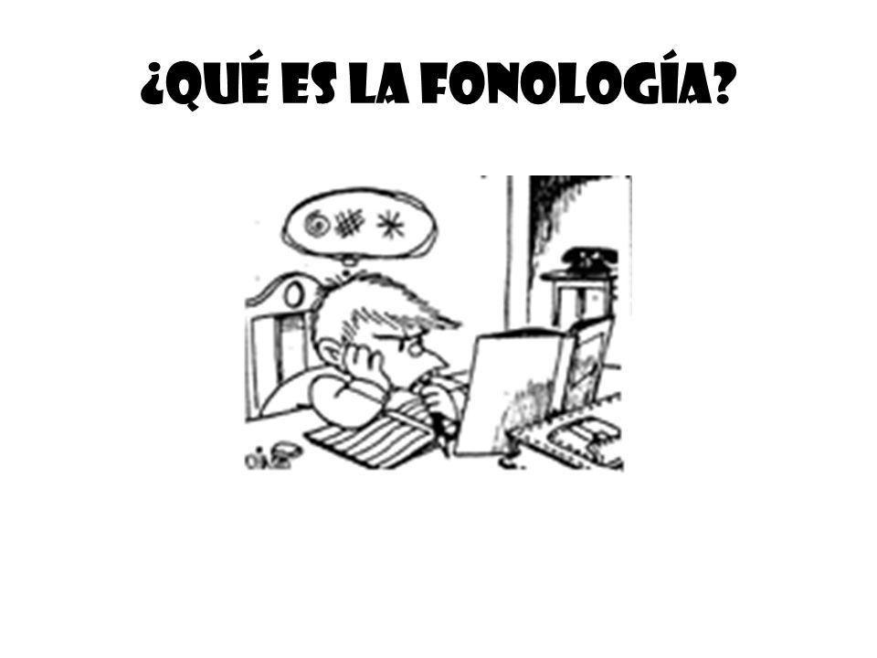 ¿Qué es la fonología