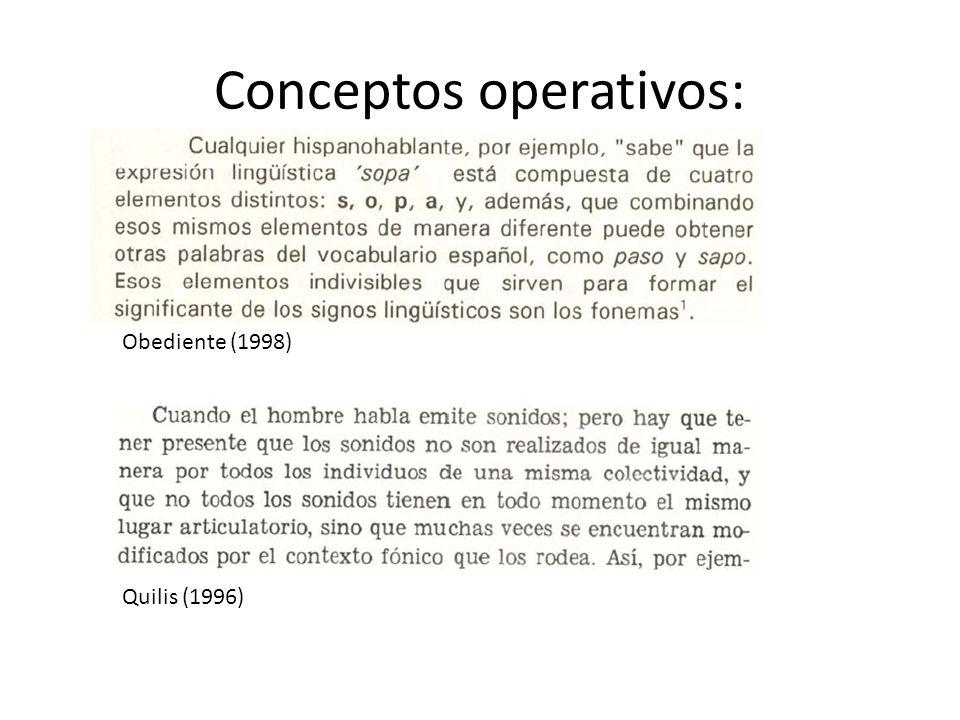 Conceptos operativos: