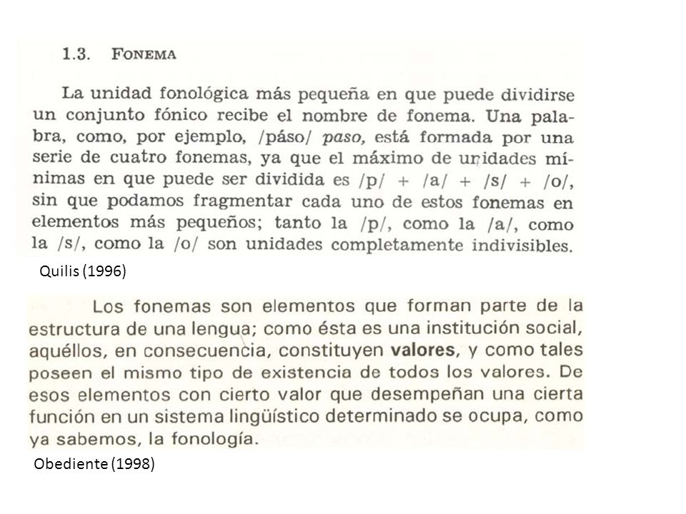 Quilis (1996) Obediente (1998)