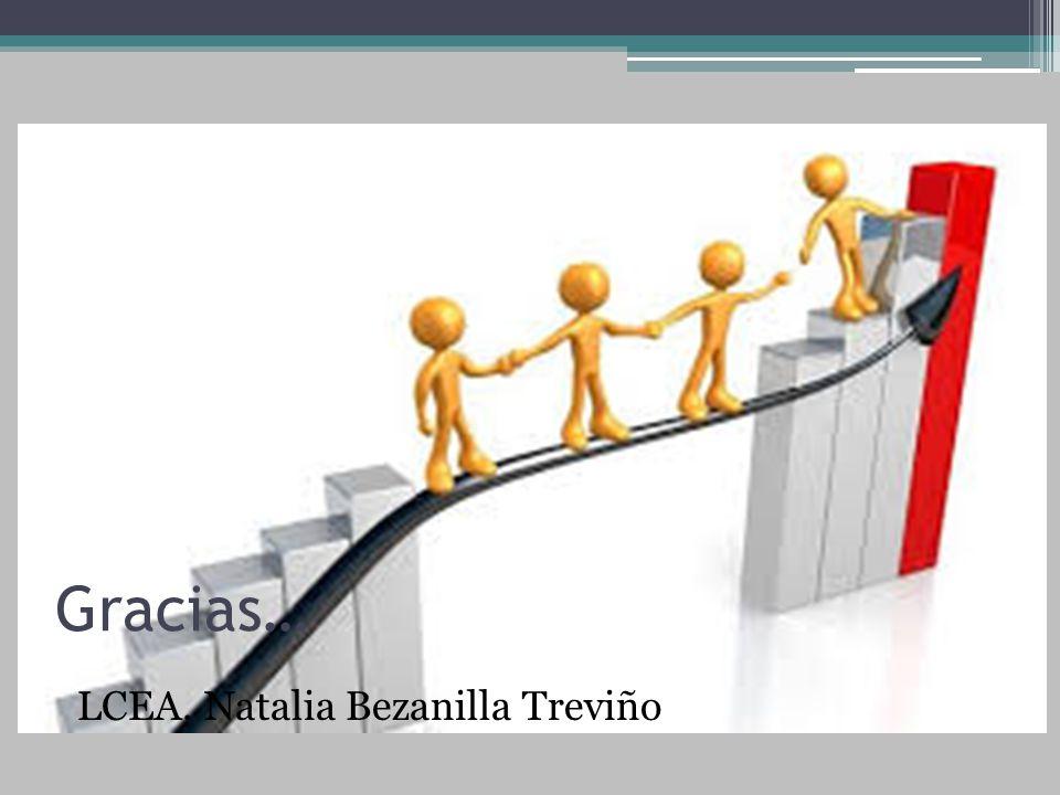 Gracias… LCEA. Natalia Bezanilla Treviño