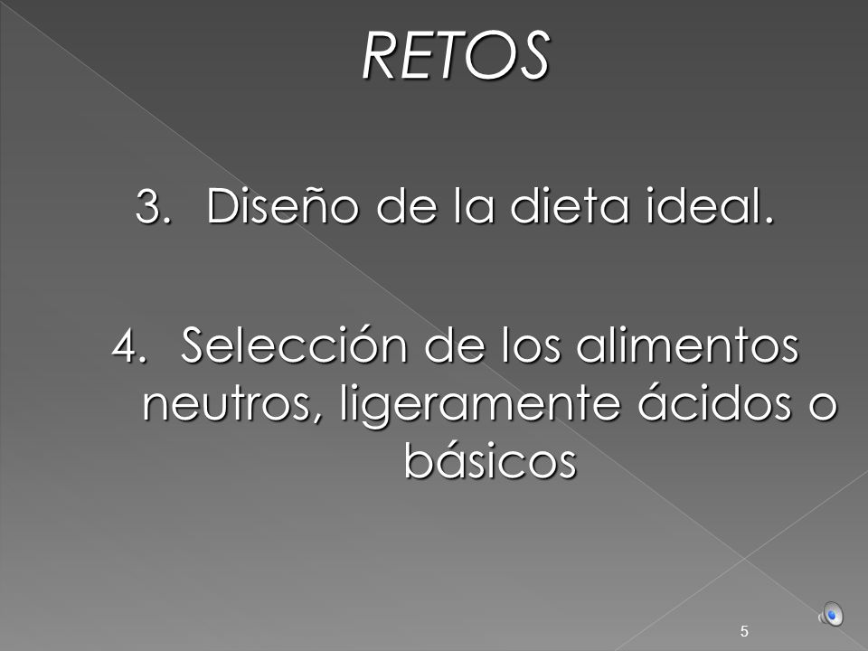 RETOS Diseño de la dieta ideal.