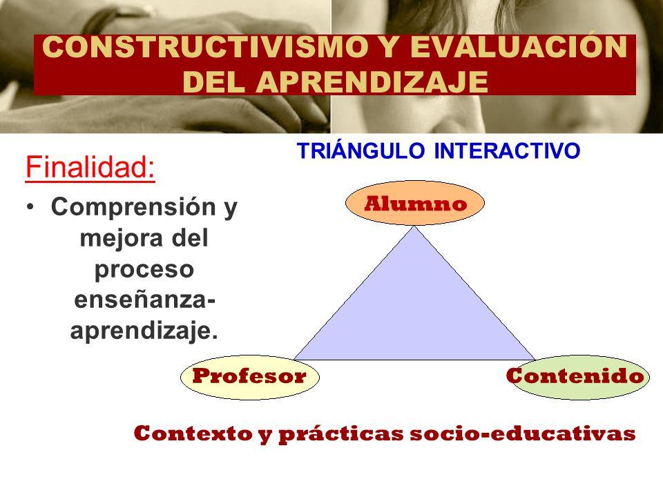 CONSTRUCTIVISMO Y EVALUACIÓN DEL APRENDIZAJE