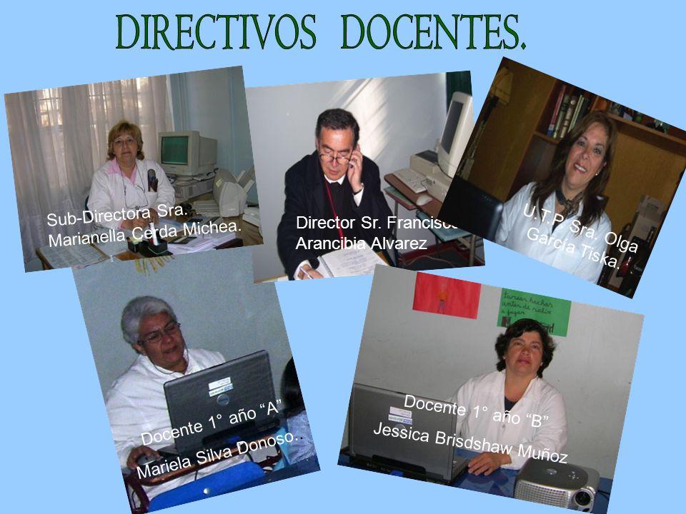 DIRECTIVOS DOCENTES. Sub-Directora Sra. Marianella Cerda Michea.