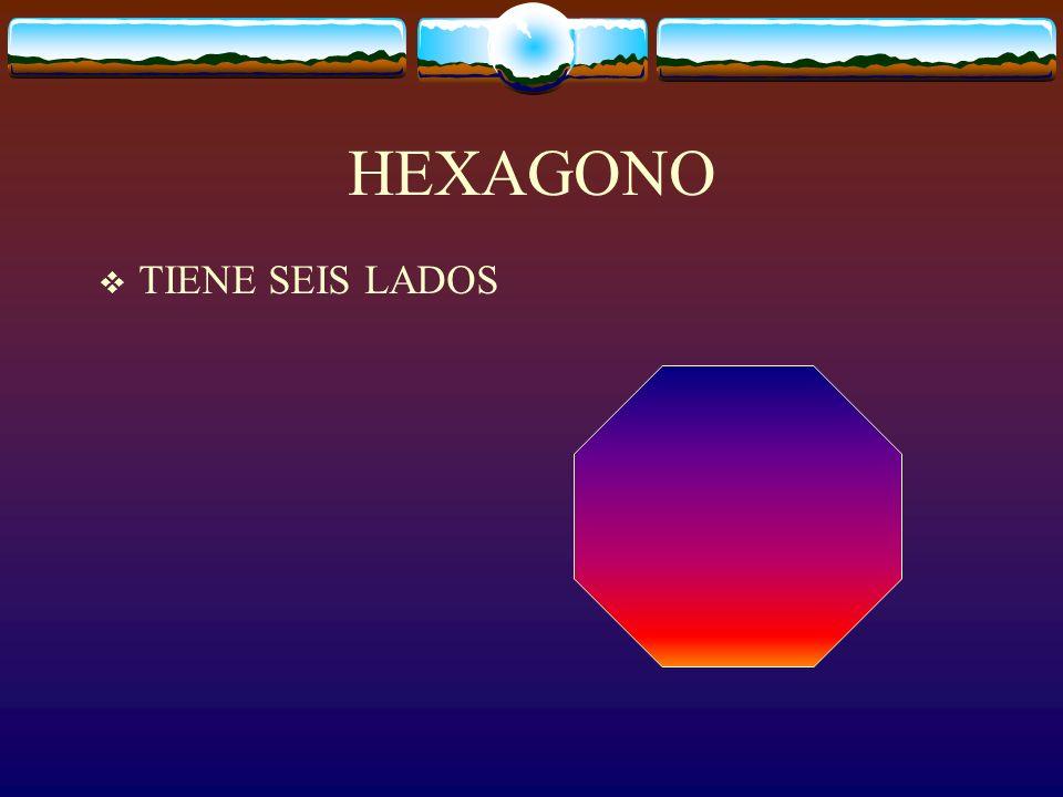 HEXAGONO TIENE SEIS LADOS