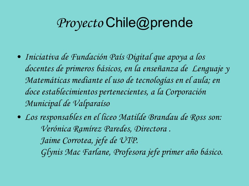 Proyecto Chile@prende