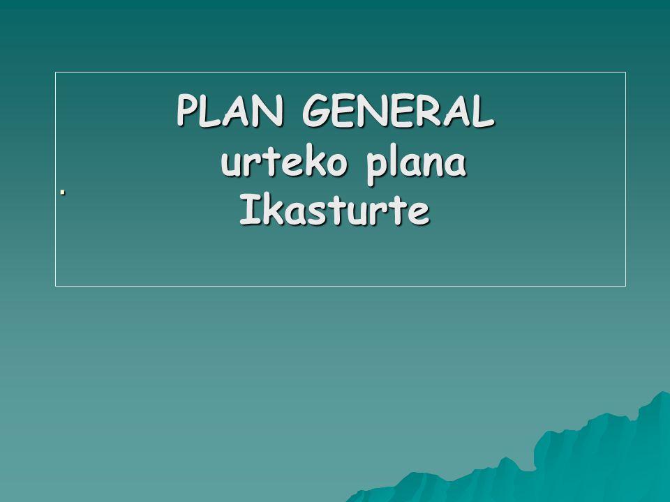 PLAN GENERAL urteko plana Ikasturte