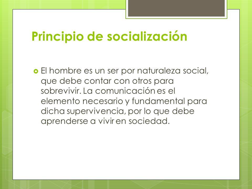 Principio de socialización