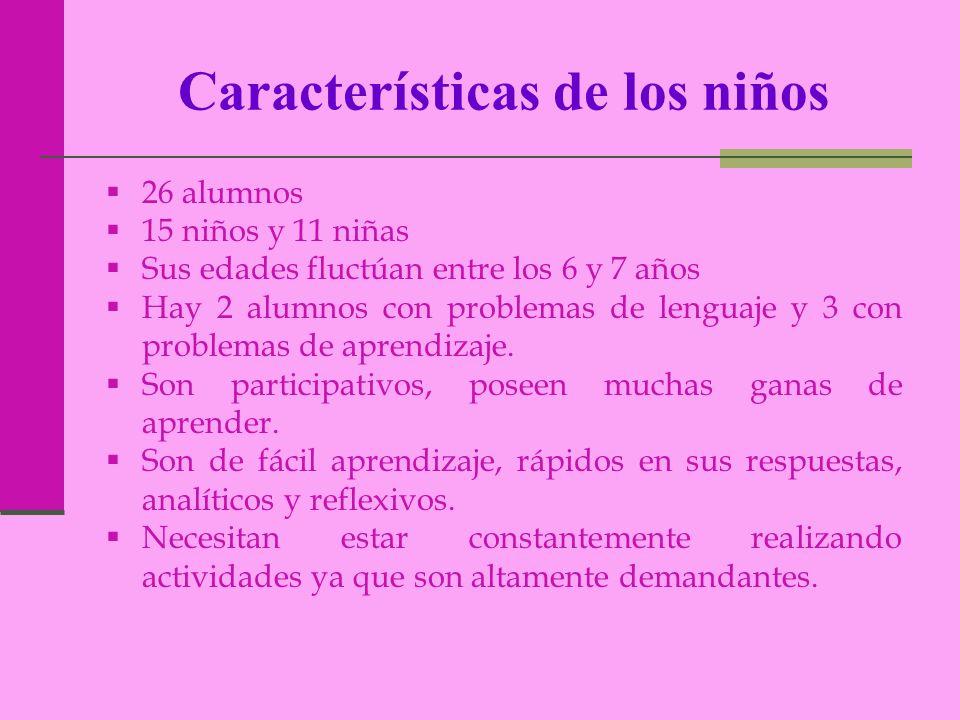 Características de los niños