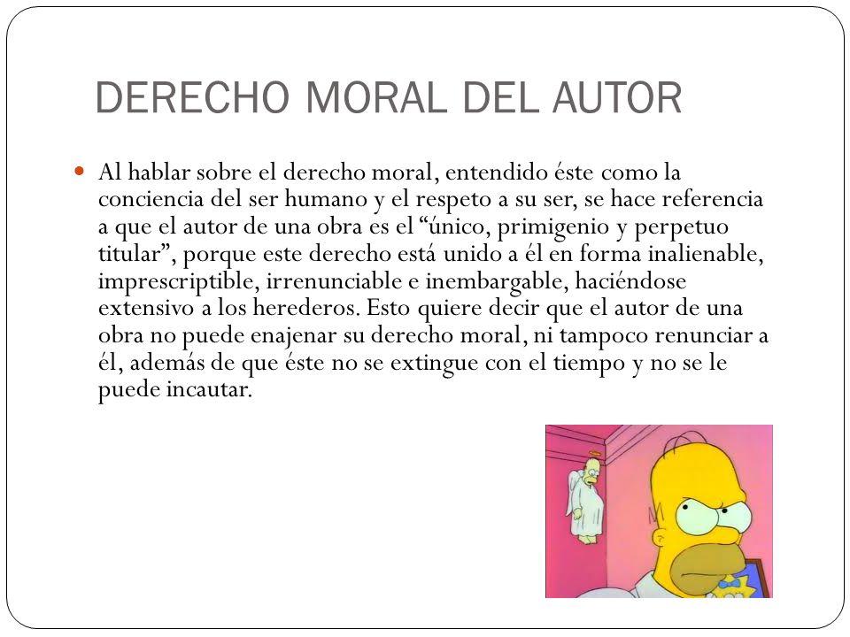 DERECHO MORAL DEL AUTOR