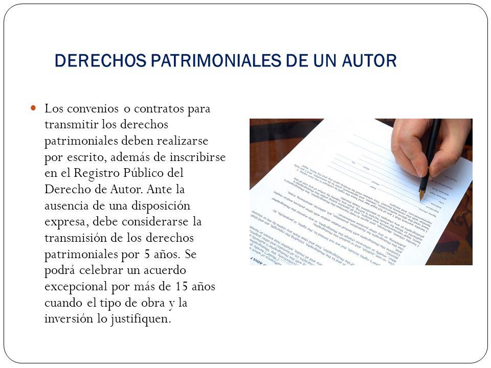 DERECHOS PATRIMONIALES DE UN AUTOR