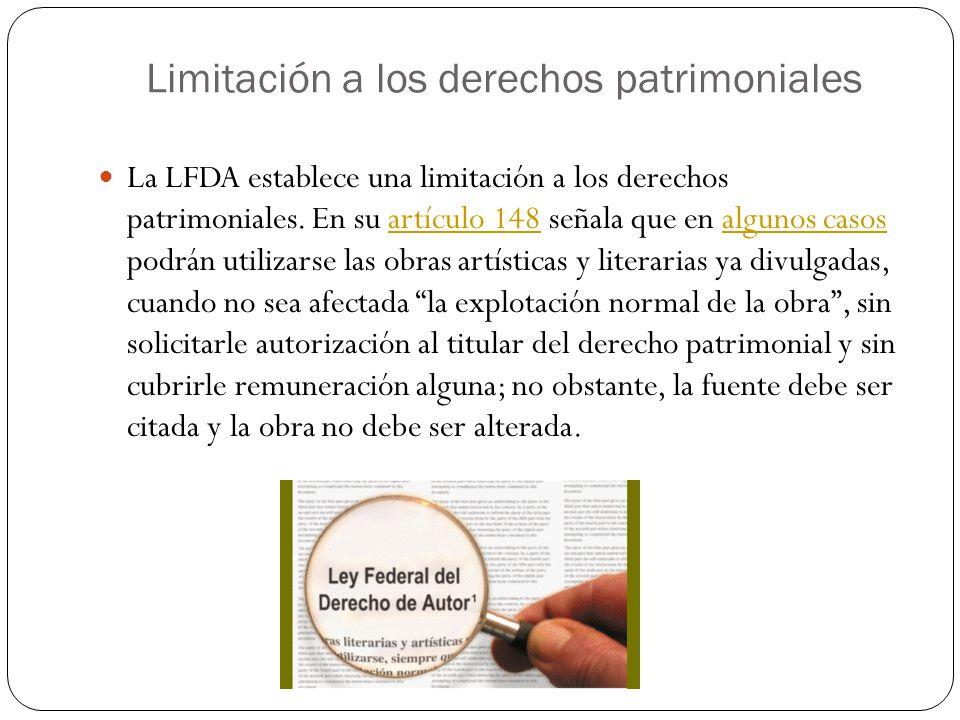 Limitación a los derechos patrimoniales