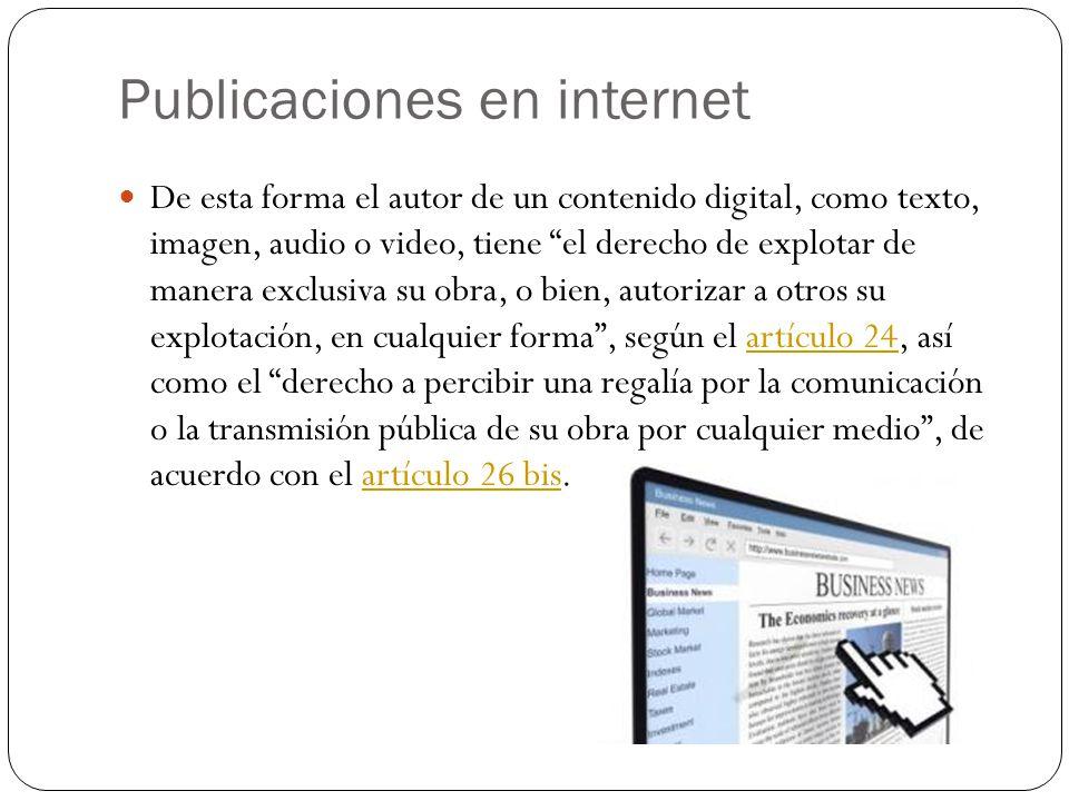 Publicaciones en internet