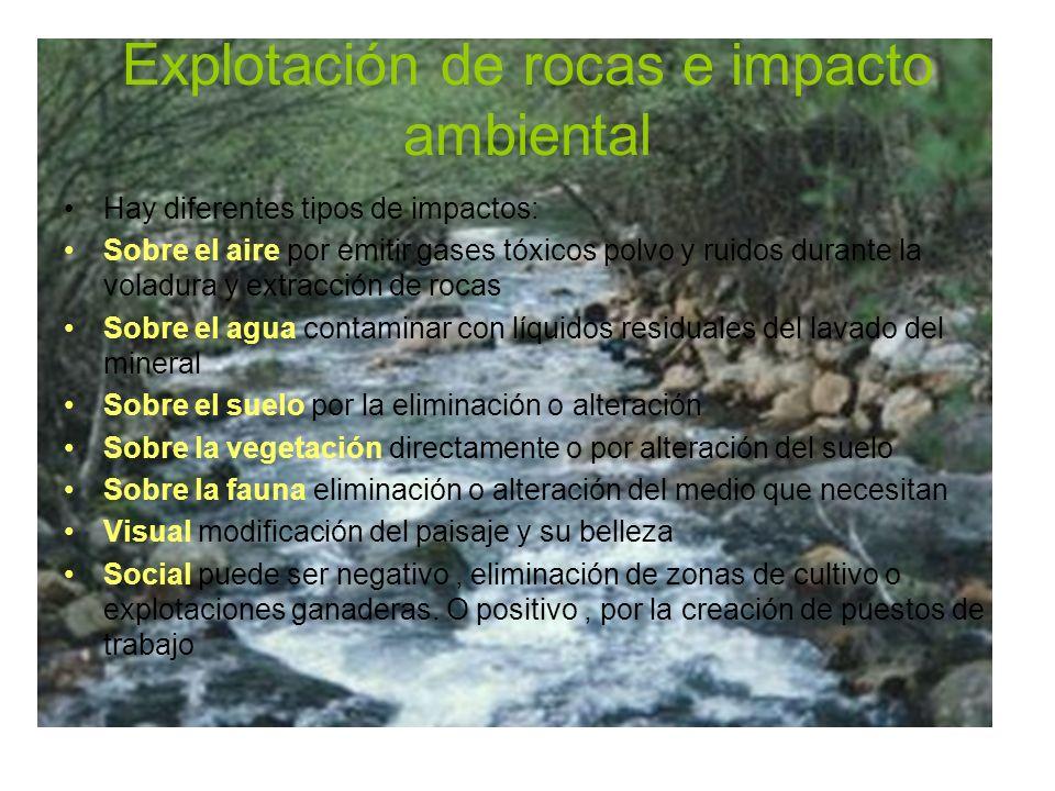 Explotación de rocas e impacto ambiental