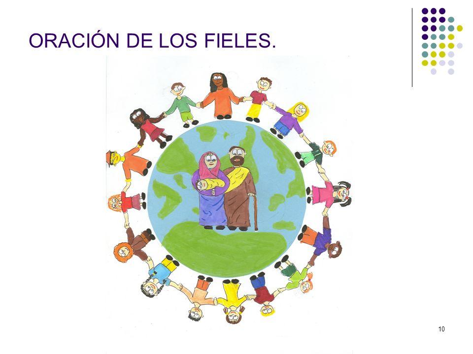 ORACIÓN DE LOS FIELES.