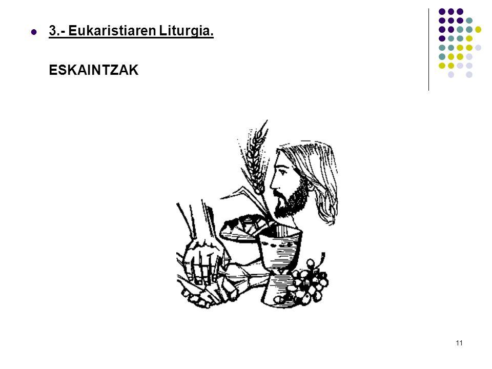 3.- Eukaristiaren Liturgia.