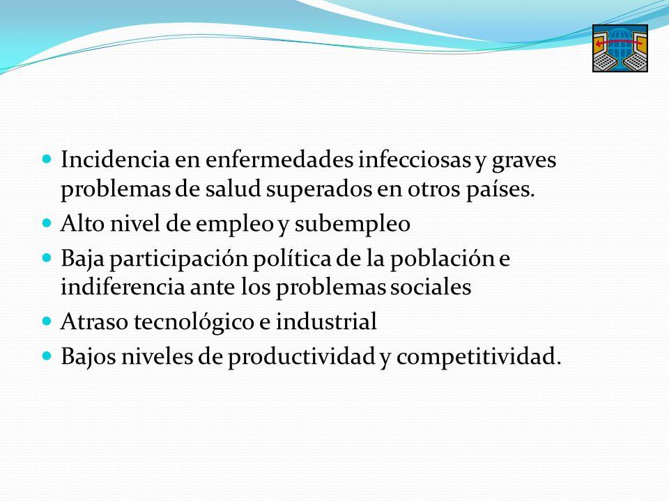Incidencia en enfermedades infecciosas y graves problemas de salud superados en otros países.