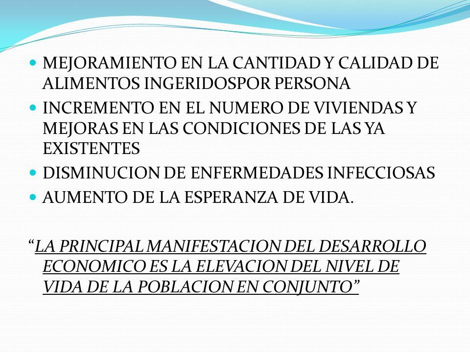 MEJORAMIENTO EN LA CANTIDAD Y CALIDAD DE ALIMENTOS INGERIDOSPOR PERSONA