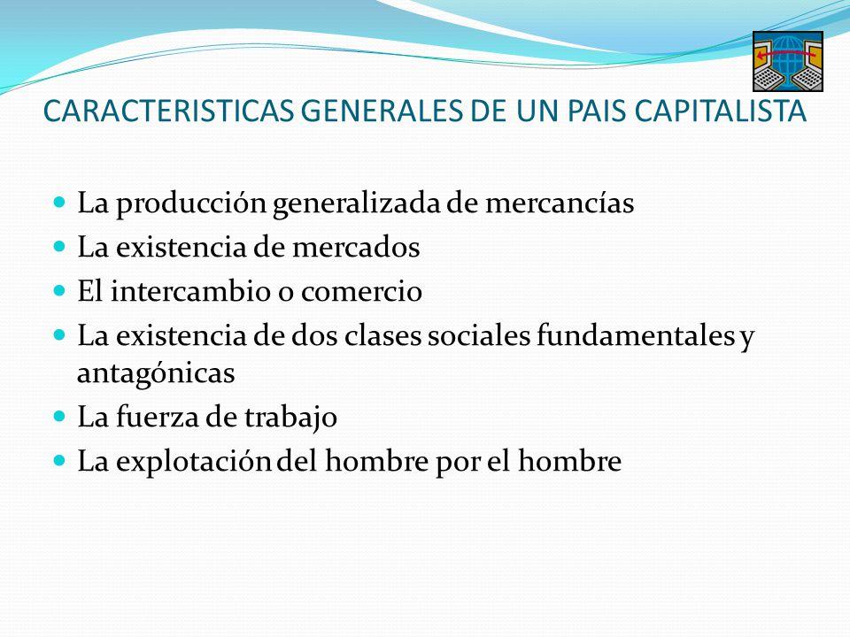 CARACTERISTICAS GENERALES DE UN PAIS CAPITALISTA