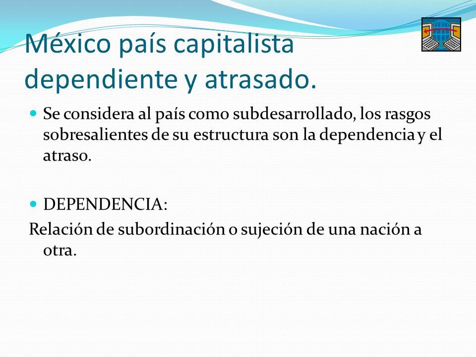 México país capitalista dependiente y atrasado.