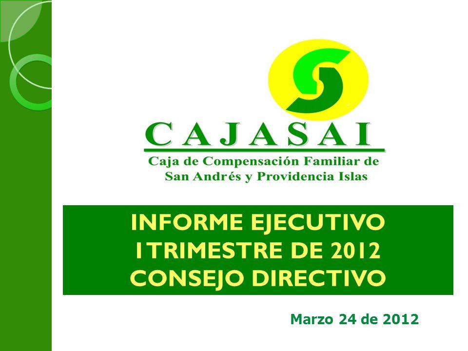 INFORME EJECUTIVO I TRIMESTRE DE 2012 CONSEJO DIRECTIVO