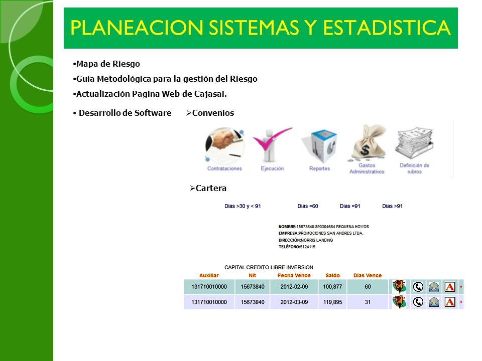 PLANEACION SISTEMAS Y ESTADISTICA
