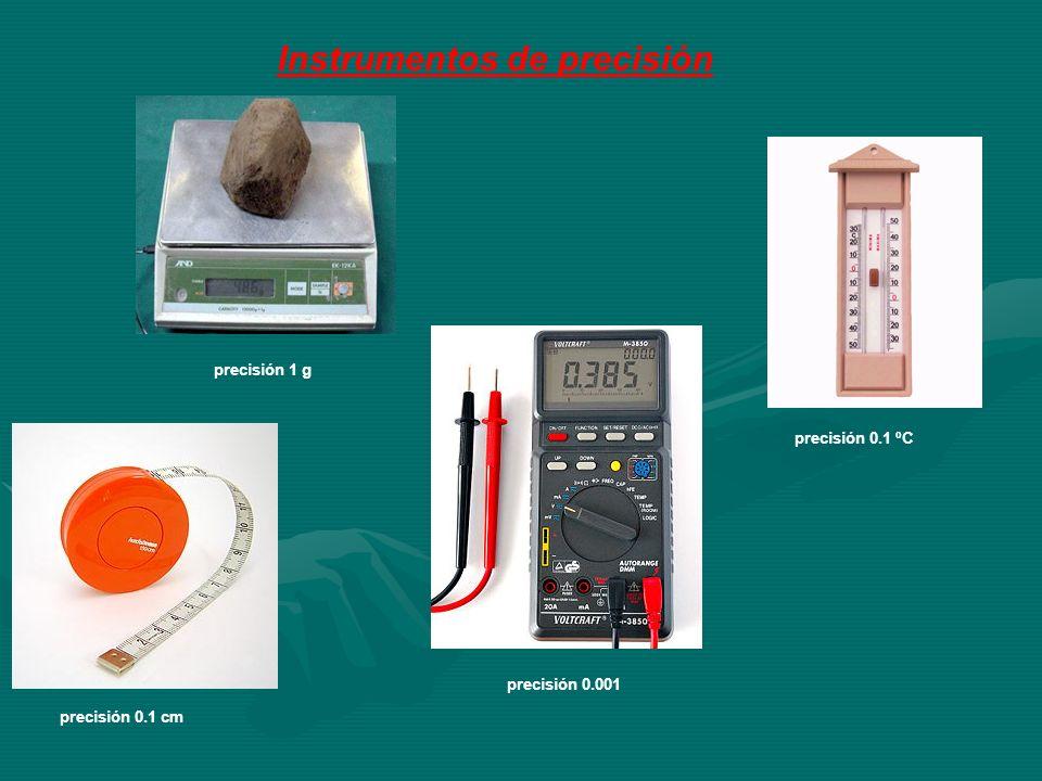 precisión 1 g Instrumentos de precisión precisión 0.1 ºC