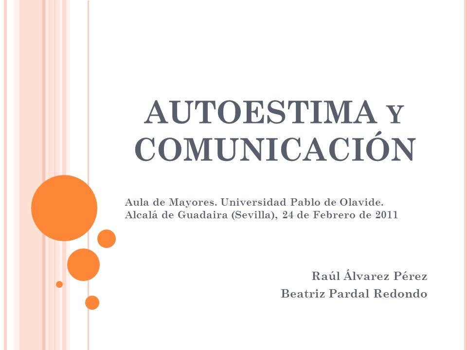 AUTOESTIMA y COMUNICACIÓN