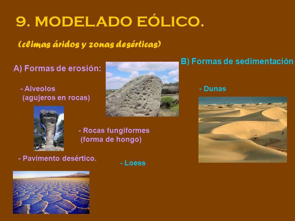 9. MODELADO EÓLICO. (climas áridos y zonas desérticas)