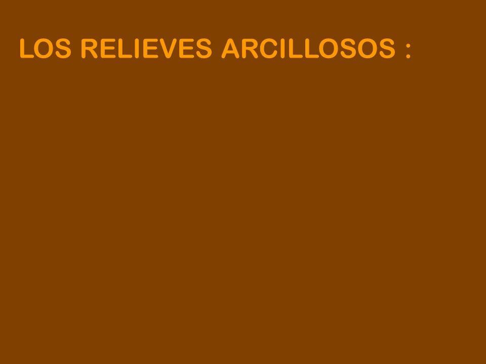 LOS RELIEVES ARCILLOSOS :
