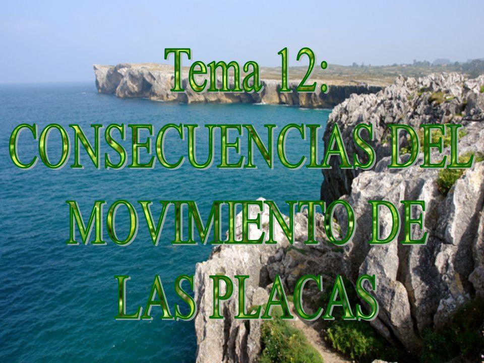 Tema 12: CONSECUENCIAS DEL MOVIMIENTO DE LAS PLACAS